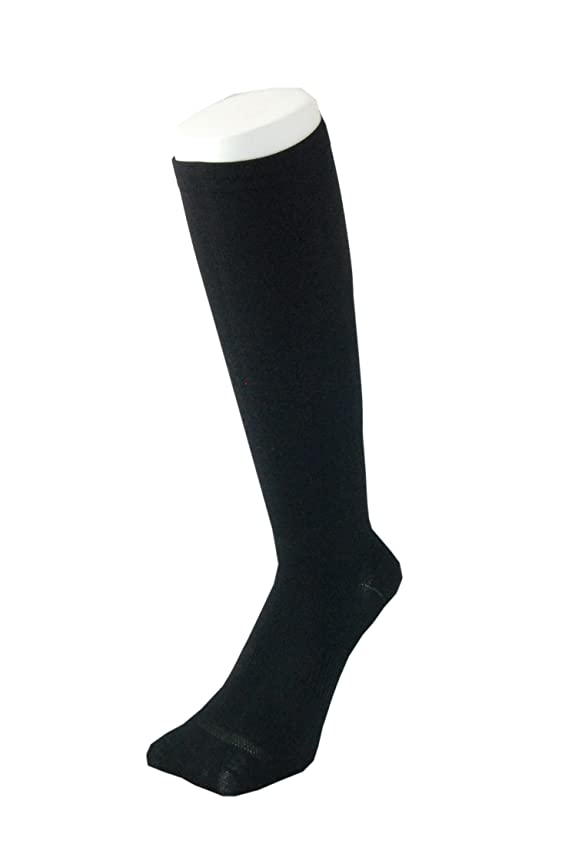 不十分野な分配しますPAX-ASIAN 紳士 メンズ 着圧靴下 ムクミ解消 締め付け サポート ハイソックス (抗菌加工) 1足組 #800 (黒)