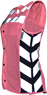 Missing Link Women's Meshed Up Expandable Safety Vest (Pink/Fuchsia, Large)