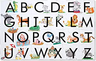 """Melissa & Doug ABC Learn the Alphabet Floor Puzzle (Easy-Clean Surface, Promotes Hand-Eye Coordination,24 Pieces, 24"""" L x 36"""" W, Great Gift for Girls and Boys - Best for 3, 4, 5, and 6 Year Olds)"""