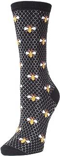 Honey Bee Crew - Elegant Bamboo Bee Novelty Socks for Women
