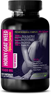 Women Energy Supplement - Horny Goat Weed Natural Complex for Women - Horny Goat Weed l-arginine - 1 Bottle 60 Capsules