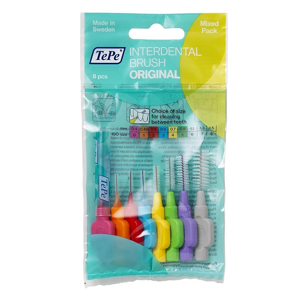 先行進スチュワードTePe Interdental Brushes Original Mixed 8 Brushes by TePe