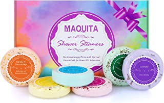 MAQUITA Shower Steamers and Shower Bath Bombs Tables with SPA Aromatherapy Stress Relif Relaxing Gift for Women Girls Grea...