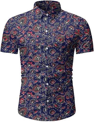 Nuevo 2020 Camisas Hawaianas Hombre Manga Corta Camisa ...