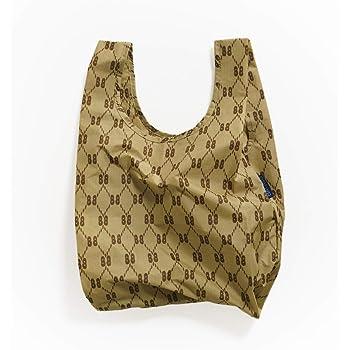 BAGGU Small Reusable Shopping Bag, Ripstop Nylon Grocery Tote or Lunch Bag, BB Print