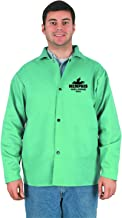 MCR Safety 39030XL 30-Inch Flame Resistant Cotton Fabric Welding Jacket with Inside Pocket, Green, X-Large