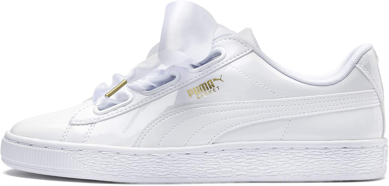PUMA Girl's Basket Heart Patent WN's Trainers
