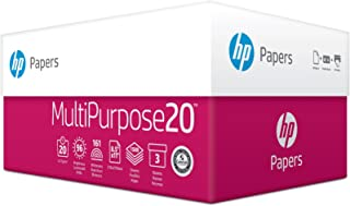 HP Printer Paper, Multipurpose20, 8.5 x 11 Paper, Letter Size, 20lb Paper, 96 Bright, 1,500 Sheets / 3 Ream Carton (112300C) Acid Free Paper