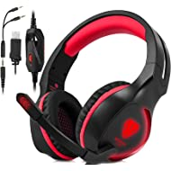 Xbox One, PS4 Gaming Headset , Headphones with Mic and LED Light for Laptop Computer,Stereo Gamer...