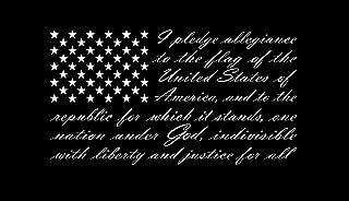 American Flag Pledge of Allegiance Vinyl Truck Window Sticker Decal (13