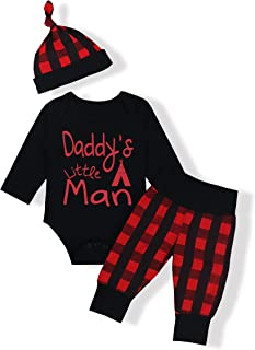 Newborn Baby Boy Girl Clothes Long Sleeve Cute Onesie Camo Pants with Hat Outfit Set