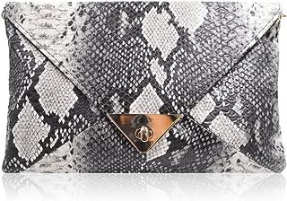 Mily Women's Clutch Bag Messenger Shoulder Handbag Tote Bag Purse-Snakeskin clutch Envelope