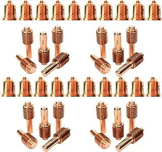 Jack&Dave 20PCS 220941 Plasma Tips 20PCS 120926 Plasma Electrode Fit Hypertherm Powermax 65/85/105