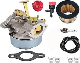 HIFROM Carburetor Air Filter Fuel Fliter Spark Plug for Tecumseh 632631 632230 632272 Troy bilt chipper vac 47279 47261 Tecumseh H30 H50 H60 Engines