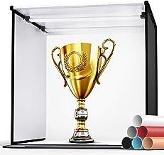 "Photo Light Box, SAMTIAN 24""/60cm Professional Studio Box 6 Colors Backdrops Folded Shooting Tent 126 LED Lights with Cont..."