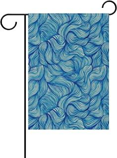 lightly Blue Garden Flags Indoor Outdoor Decorative House Yard Flag Holiday Decoration Double Sided 28x40 in