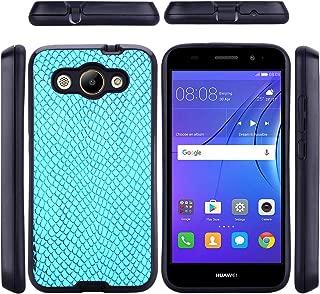 Huawei Y3 2017 シェル [ パーフェクト 合う ] 保護 バックケース バックケース 重い 義務 保護 緩衝器 シェル の Huawei Y3 2017 (Sky-blue)