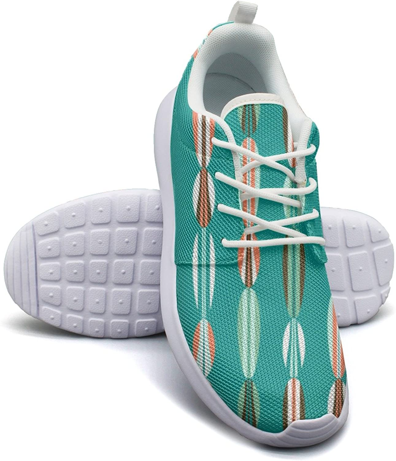 Surf Board Stripes Beach Pattern Women's Lightweight Mesh Tennis Sneakers Exclusive Athletic shoes