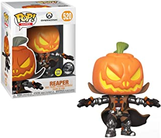 Funko Pop! Games: Overwatch - Reaper Pumpkin, Glow in The Dark, Exclusive