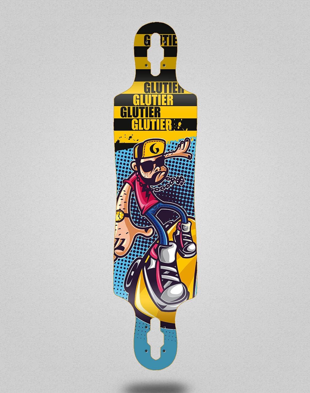 Tampa Mall Skateboard Longboard Deck Glutier Outlet sale feature Drop 40x9 Drugs John