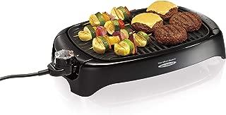 Hamilton Beach 8-Serving Electric Indoor/Outdoor Smokeless Grill, Dishwasher Safe, Adjustable Temperature Control, Black (31605N)