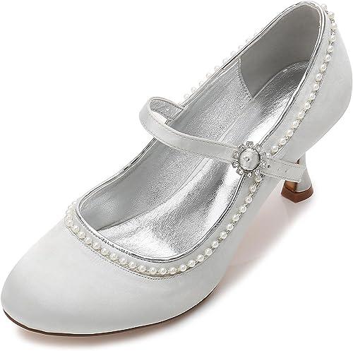 L@YC zapatos De Boda De Las mujeres F17061-56 Gatito De Mediana Edad De Dama De Honor De Diamante Artificial Brillante con Gatito Personalizado