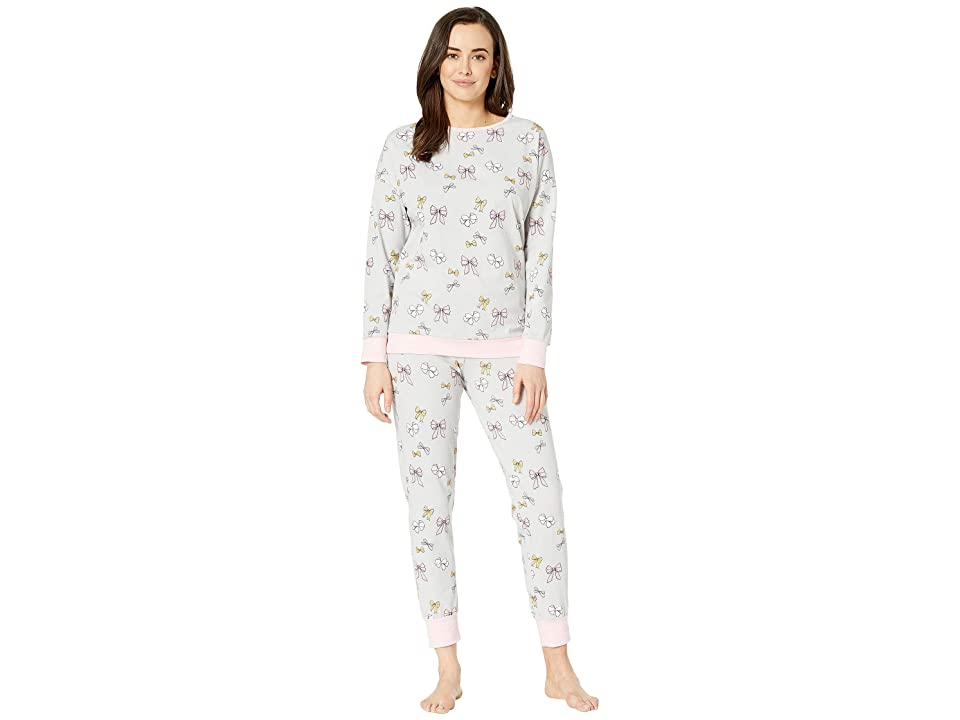 BedHead Long Sleeve Crew Neck Pajama Set (All Tied Up) Women