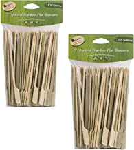 Helen's Asian Kitchen 97133/2 Flat Bamboo Appetizer Cocktail Party Skewers, 7-Inches, 200-Pieces, One Size, Beige