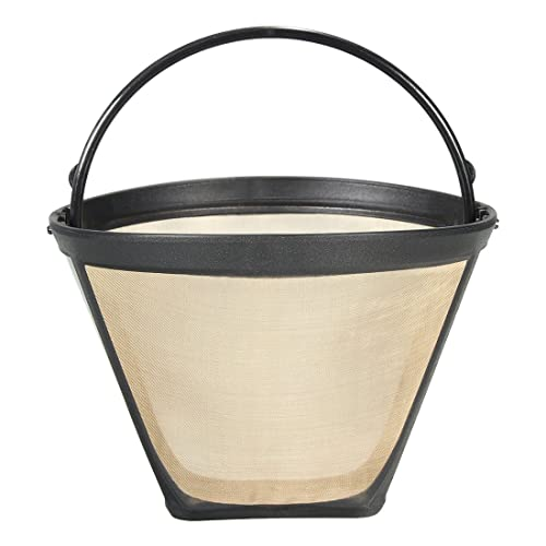 SODIAL 1PC Permanent Reusable #4 Cone Shape Coffee Filter Mesh Basket Stainless New