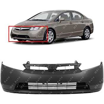 Crash Parts Plus Primed Front Bumper Cover Replacement for 2006-2008 Honda Civic Coupe