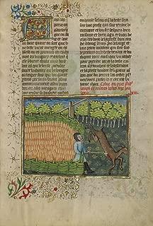 Manuscripts Poster - A Deer Caught in a Foot Trap, 24