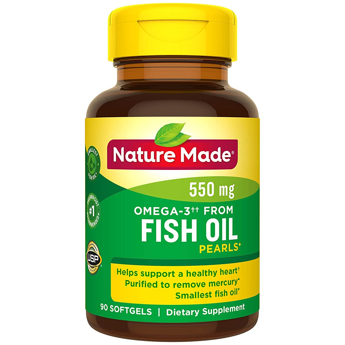 儀式精度テロNature Made Fish Oil Pearls 500 Mg Softgel, 90 Count 海外直送品
