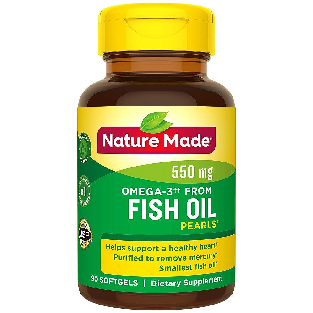 警告するり貫通するNature Made Fish Oil Pearls 500 Mg Softgel, 90 Count 海外直送品