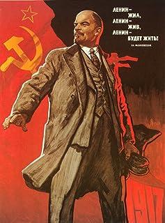 Communist Poster 1967 NLenin Lived Lenin Lives Lenin Will Live Forever Poster By Viktor Ivanov Soviet Union 1967 Poster Pr...
