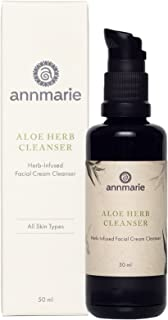Annmarie Skin Care Aloe-Herb Facial Cleanser - Gentle Cleanser with Aloe Vera, Coconut Oil + Calendula, Suitable for All Skin Types (50ml / 1.7 fl oz)