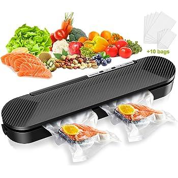 Cocoda Machine sous Vide, Appareil sous Vide Alimentaire Automatique pour Cuisine & Conservation, Compact & Portable & Multifonctionnel, avec 10PCS de Sacs sous Vide pour sous Vide et Sceller