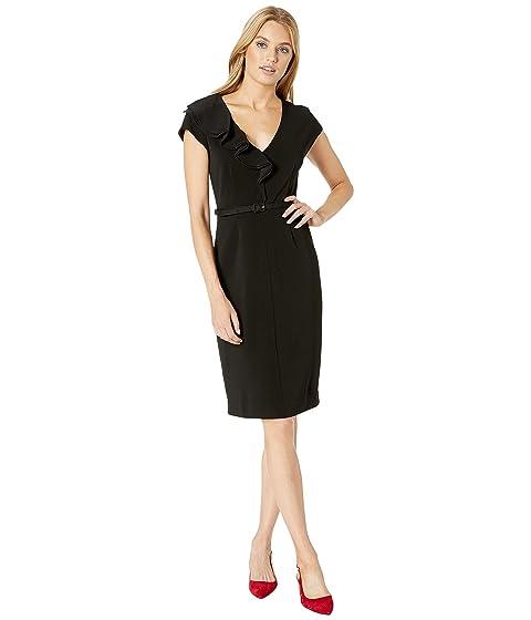 Kate Spade New York Ruffle Matte Crepe Dress