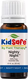 Plant Therapy Essential Oils Nighty Night Synergy Sleep Blend 100% Pure, KidSafe, Undiluted, Natural Aromatherapy, Therapeutic Grade 10 mL (⅓ oz)
