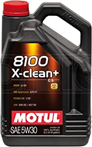 Motul 8100 X-Clean  5W-30 High Performance Full Synthetic Engine Oil Litres
