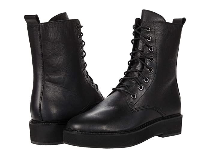 Vintage Boots, Retro Boots Eileen Fisher Nelly Black Womens Lace-up Boots $310.00 AT vintagedancer.com