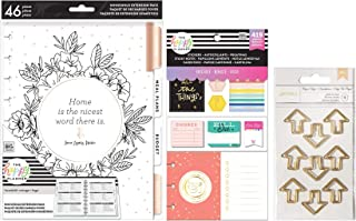 Classic Happy Planner Household Extension Bundle - Home Extension Pack, Household Accessory Pack and Shaped Planner Clips - 3 Items