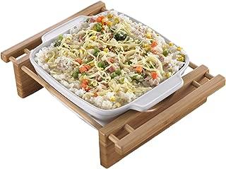 Creative Home 73456 9-Inch Square Grand Buffet Dish