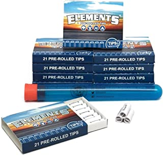 10 Boxes of Elements PRE-ROLLED tips (210 Total PRE-ROLLED Tips) + 1 XL RPD Doob Tube