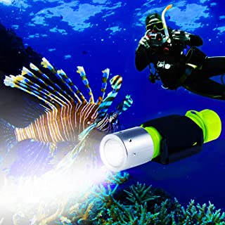 BlueFire 1100 Lumen CREE XM-L2 Professional Diving Flashlight, Bright Submarine Light Scuba Safety Lights Waterproof Under...