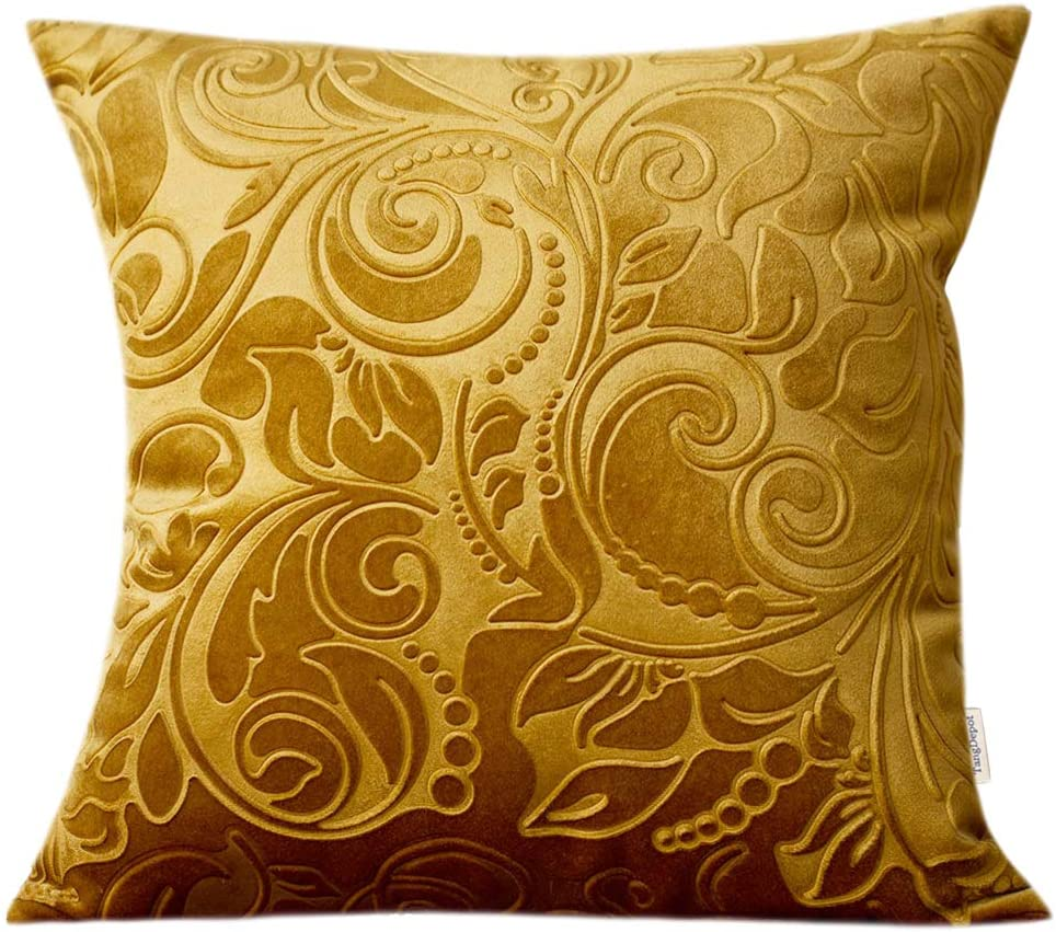 TangDepot Heavy Velvet Embossing Throw Discount mail order Flo Classis 2021 autumn and winter new Pillow Cover
