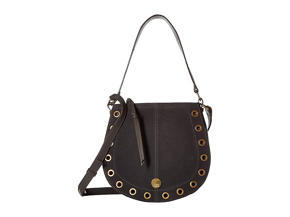 See by Chloe Kriss Small Suede Leather Hobo Bag (Lava Brown) Hobo Handbags