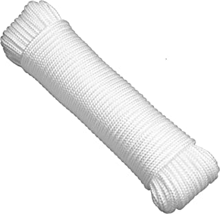 """Gardzen 72' x φ1/4"""" Polypropylene Rope Sollid Braided Poly Rope Rope - for Multiple Usages, Flagline, Clothesline, Camping..."""