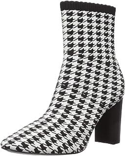Charles by Charles David Women's Banker Fashion Boot, Black/White, 6.5 M US