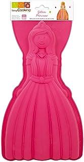SCRAP COOKING 3138 Moule - Princesse, Silicone, Rose, 35,5 x 17,5 x 3,5 cm