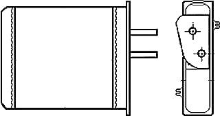 BEHR HELLA SERVICE 8FH 351 000-501  Radiador de calefacci/ón